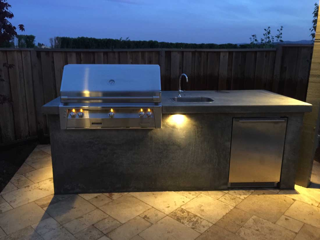 Outdoor Kitchen Island Kits Smooth Stucco Grill Island Nor Cal Landscape Design