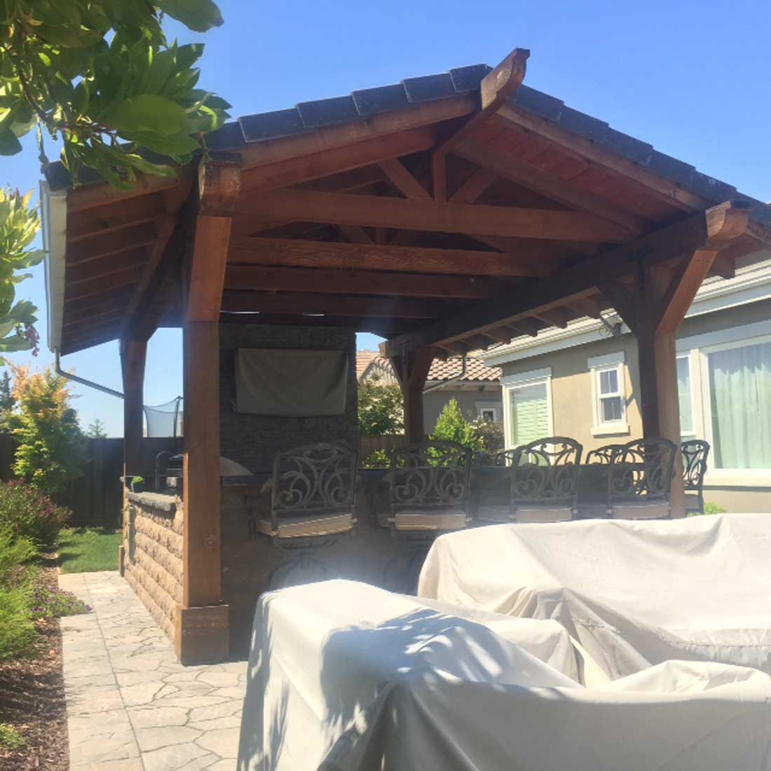 covered outdoor kitchen structures stand alone covered outdoor kitchen nor cal landscape design